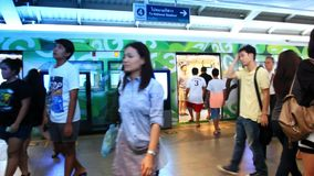 Commuters in Thailand, Bangkok, 1 August 2014. stock video footage
