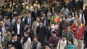 Commuters, Tokyo, stock footage
