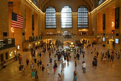 Commuters and tourists in the grand central station Royalty Free Stock Photography
