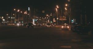 commuters Tráfego da noite na autoestrada filme