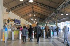 Commuters train station Melbourne Australia. People commute at Flinders Street Station in Melbourne Australia Stock Photos
