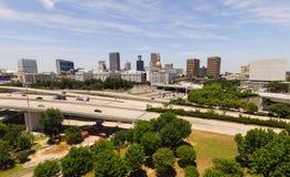 Commuters Travel Aerial View Capital City Atlanta Georgia Stock Image