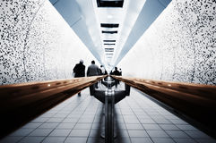 Commuters in the Tube. Abstract picture of Commuters ( London, Underground Royalty Free Stock Images