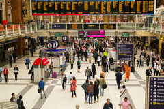 Commuters using the busy London Liverpool Street Station Stock Photography