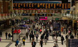 Commuters using the busy London Liverpool Street Station Royalty Free Stock Photo