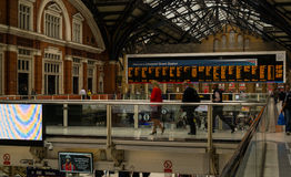 Commuters using the busy London Liverpool Street Station Stock Image