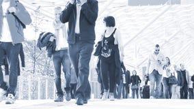 Commuters walking stock video