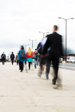 Commuters walking in the city Royalty Free Stock Photos