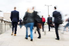 Commuters walking in the city Stock Images