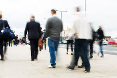 Commuters walking in the city Royalty Free Stock Photography