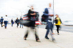 Commuters walking in the city Stock Photo