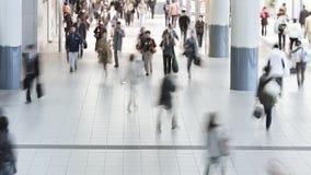 Commuters walking through shibuya station at rush hour shibuya tokyo honshu stock footage