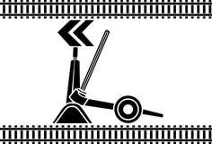 Commutez les flèches ferroviaires photographie stock libre de droits