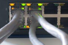 Commutez les ports en ligne Photo stock