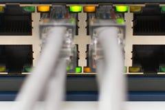 Commutez les ports en ligne Photographie stock libre de droits