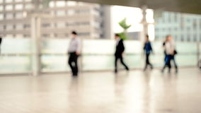 Commuting landscape in the city. Business people commuting landscape in the city stock footage