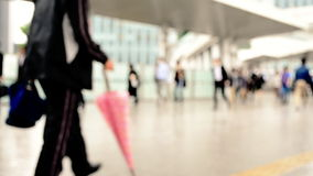 Commuting landscape in the city. Business people commuting landscape in the city stock video footage