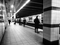 Commuting life 1. The underground Stock Photos