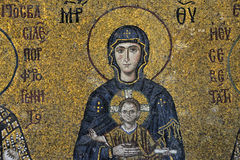 The Comnenus mosaics, Hagia Sophia, Istanbul Stock Photography