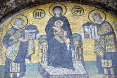 The Comnenus mosaics, Hagia Sophia, Istanbul Royalty Free Stock Images