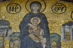 The Comnenus mosaics, Hagia Sophia, Istanbul Royalty Free Stock Photos