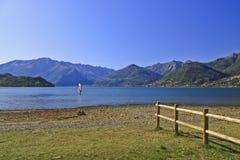 Como湖 库存照片