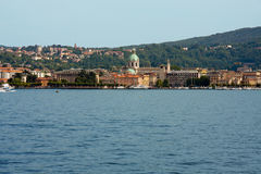Como. Cityscape on lake , Italy Royalty Free Stock Photography