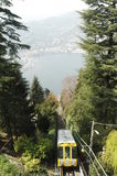 Como. View to the lago di como stock photography