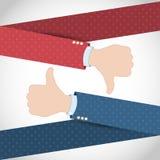 Como bandera de la mano de la aversión Fotografía de archivo