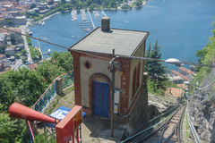 Como Brunate funicular in Brunate Stock Photography