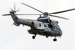 Como Busca militar do combate de 532 pumas e helicóptero do salvamento imagens de stock