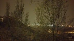 Como cae la nieve fotos de archivo