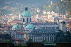 Como Cathedral on Lake Como Stock Photo