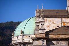 Como Cathedral on Lake Como Stock Photos