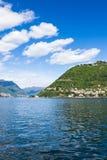 Como city and lake near Milan in Italy. Como city and lake near Milan - Italy Stock Photo