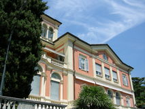 Como classical luxury villa. A classical italian villa in como with sky Stock Photography