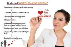 Como começar o negócio do planeamento do casamento para o conceito do amor Foto de Stock