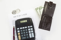 Como comprar um dinheiro ou uma hipoteca da casa seja maneira usual de pagamento imagens de stock