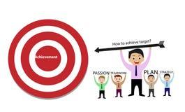 Como conseguir o alvo do conceito bem sucedido do negócio Imagem de Stock Royalty Free