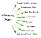 Como controlar a raiva ilustração stock