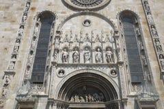 Como, coordonnées du Cathderal Santa Maria Assunta photos libres de droits