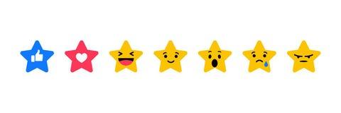 Como, coração e emoções nas estrelas do formulário ilustração royalty free