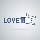 Como, da relação e do amor ícones Fotos de Stock Royalty Free