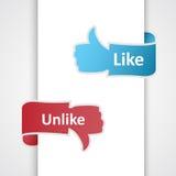 Como e ao contrário de ícones. Imagem de Stock Royalty Free