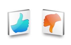 Como e do desagrado ícone Fotografia de Stock