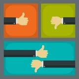 Como e do desagrado conceitos do negócio Imagens de Stock