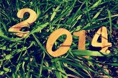 2014, como el Año Nuevo Imágenes de archivo libres de regalías