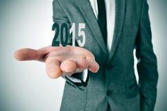 2015, como el Año Nuevo Foto de archivo libre de regalías