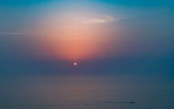 Como el sol fija Imagen de archivo libre de regalías