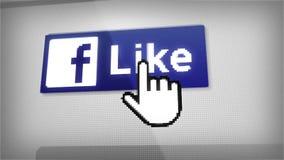 Como em Facebook video estoque